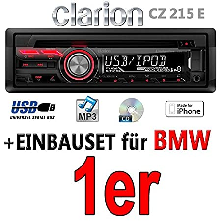 BMW pour autoradios clarion cZ215E-autoradio mP3/uSB avec kit de montage
