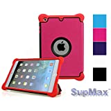SupMax Kids Proof Shock Proof With Silicone+PC Auto Wake Up/sleep Folio Case Cover For Apple IPad Mini 1/2/3 (...