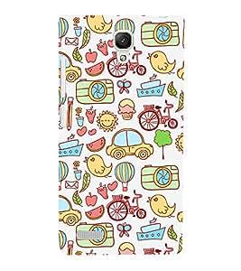 Fuson Premium Back Case Cover Cute Pattern With Multi Background Degined For Xiaomi Redmi Note::Xiaomi Redmi Note 4G