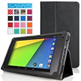 MoKo Ultra Slim Lightweight Smart-shell Stand Case For Google Nexus 7 Inch Tablet By ASUS RED (with Smart Cover...