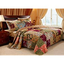 Greenland Home Antique Chic Quilt Bonus Set (Twin) with Mini Tool Box (fs)