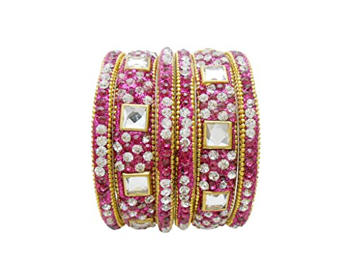 Rani Gold Plated Designer Bangles Set By My Design(size-2.8)