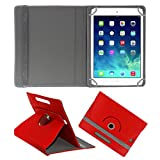 ACM ROTATING 360° LEATHER FLIP CASE FOR APPLE IPAD MINI 3 TABLET STAND COVER HOLDER RED