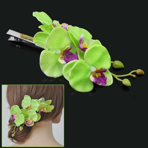 Pretty Flower Hair Clip Girl Hairclip for Bridal Party Hawaii Beach Wearing - Light Green rabbit ears hat baby girl hair clip barrette style accessories for children gifts hairclip ornaments hairpins head decorations