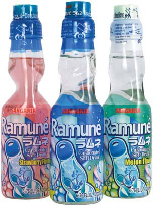 Sangaria Ramune Soft Drinks from Japan - 6 Packs