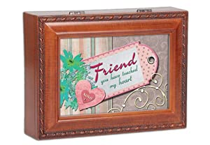 friend woodgrain cottage garden traditional music box plays thats what friends are. Black Bedroom Furniture Sets. Home Design Ideas