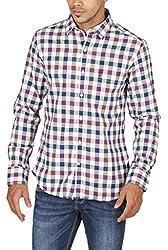 US Polo Assn. Men's Regular Fit Cotton Shirt (USSH3353_Multi-Coloured_XL)