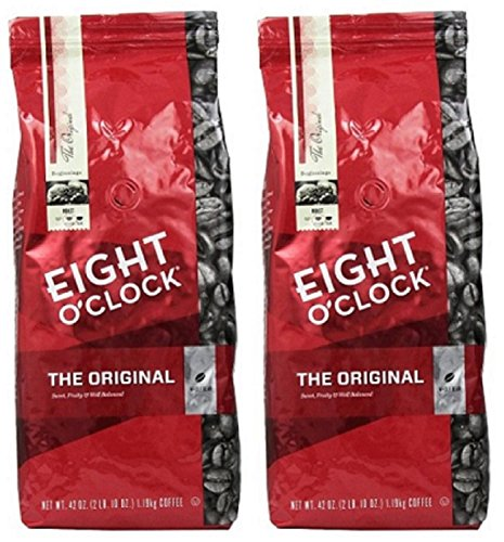 Eight O'Clock Coffee, Original Whole Bean, 42-Ounce Package, Pack of 2 (Coffee Beans Coffee Mug compare prices)