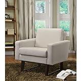 Amazon Com Enzo Faux Leather Accent Chair Black