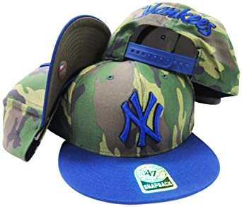 New York Yankees Two Tone Camouflage Adjustable Camo Snapback Cap Hat by