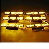 Orion Motor Tech 54 Yellow AMBER LED Emergency Warning Strobe Lights Bars Car Deck Dash Grille