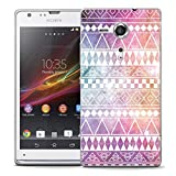 Mobile Case Mate Sony Xperia SP M35H Designer Hard IMD Case Cover Bumper Shell Summer Aztec Pattern and Stylus Pen