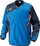 (ミズノ)MIZUNO ウィンドブレーカーシャツ P2JE4021 24 ブルー×ネイビー M