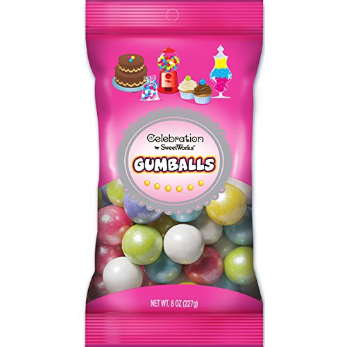 Sweetworks Celebration Candy Gumballs Bag, 8 oz, Shimmer Spring Mix