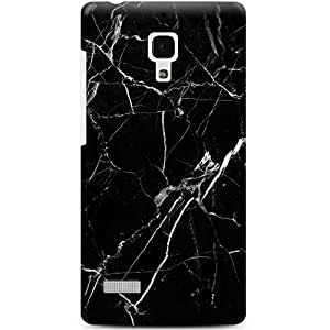 CASE U Back Cover Black and White Veins Marble Designer Case for Xiaomi Redmi Note