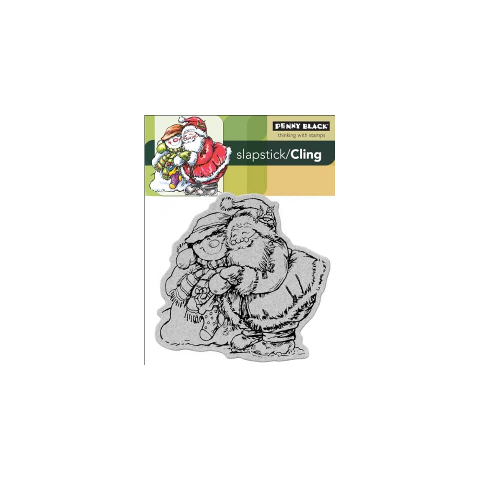 Penny Black Cling Rubber Stamp 4X5.25 Holiday Hug