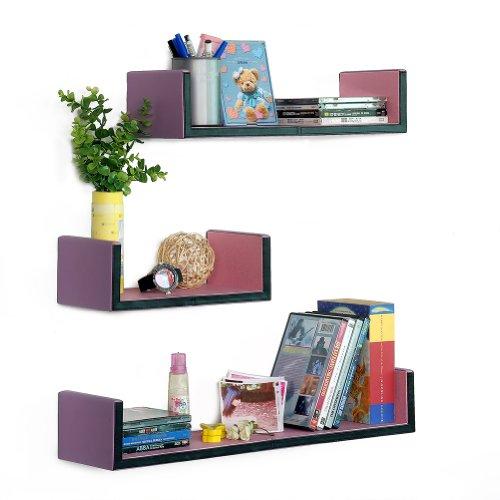 Trista - [My Lasting Love] U-Shaped Leather Wall Shelf / Bookshelf / Floating Shelf (Set Of 3)