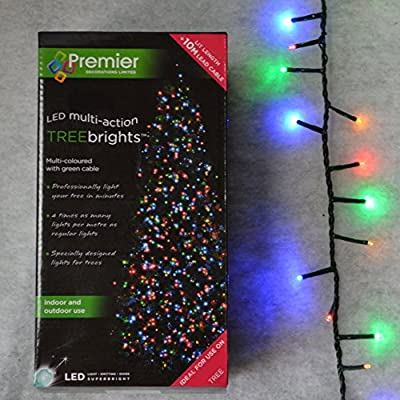 1000 Multi-coloured Premier Treebright Christmas Lights