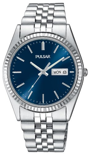 Pulsar Men's PXF277 Dress Silver-Tone Stainless Steel Watch