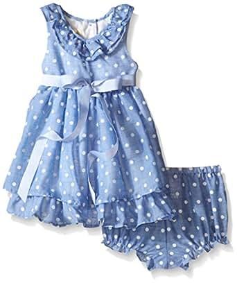 Amazon Laura Ashley London Baby Girls Chambray Polka