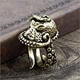 Vintage Bronze Octopus Sea Monster Squid Kraken Punk Antique Ring Retro