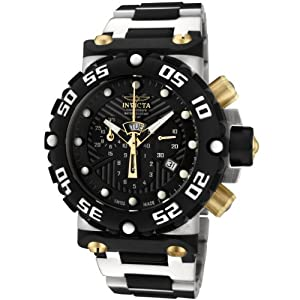 Invicta Men's 0403 Subaqua Collection Nitro Chronograph Stainless Steel and Polyurethane Watch