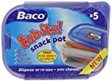 Baco Tub-Its Snack Pots x 5 (Pack of 6)