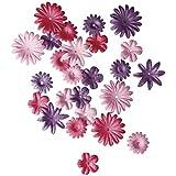 RAYHER - 7895533 - Papier-Blütenmischung, 1,5-2,5 cm, 4 Sorten, SB-Tube 36 Stück, pink
