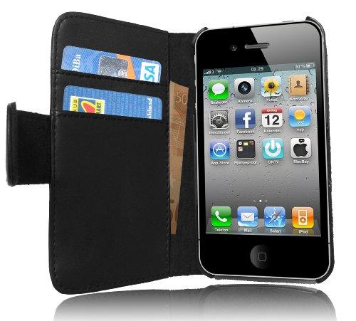Originale Cadorabo! Premio custodia pelle contro Iphone 4 e 4S nero