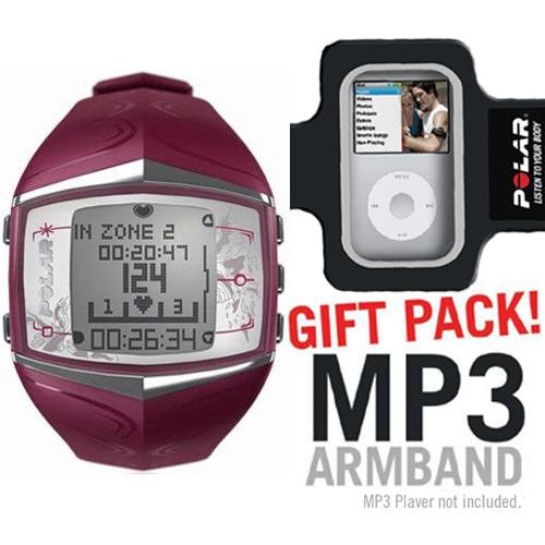 Cheap Polar FT60 Heart Rate Monitor Female Purple with MP3 Armband (B003KJ0CCE)