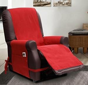 Scudo housse de fauteuil relax bordeaux cuisine maison - Amazon fauteuil relax ...