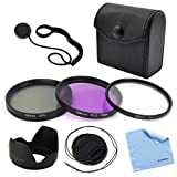 BIRUGEAR 58mm Professional Accessory Kit for Canon EOS 1200D 70D 100D 700D 650D 600D 550D 500D 450D 400D 1100D 1000D 7D 6D [Includes: Filter Set + Lens Cap + Cap Holder + Lens Hood + Cleaning Cloth]