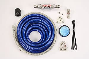 StreetWires PSK00BX Premium Power Station Amp Kit - Power cable kit - 1/0 AWG - blue