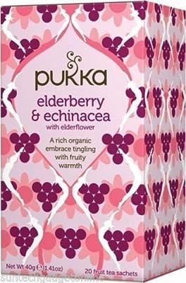 Pukka Herbs Elderberry & Echinacea Tea 20 sachet by Pukka Herbs