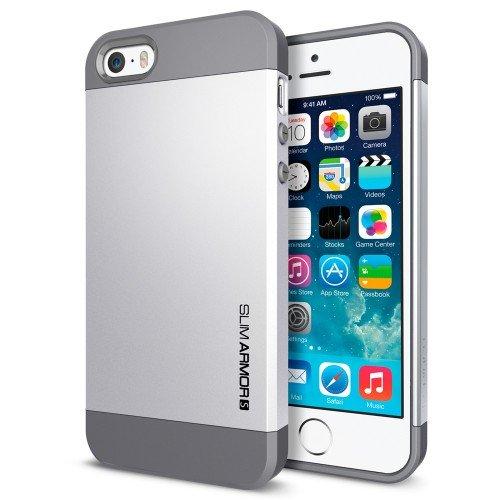 国内正規品SPIGEN SGP iPhone5/5S ケース スリムアーマーS [サテンシルバー] SGP10476