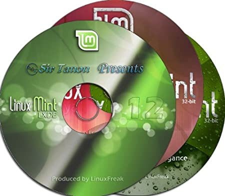 Linux Mint [32-bit] 3-disc set includes Mint 12, Mint 12 LXDE, and Mint 13 Cinnamon