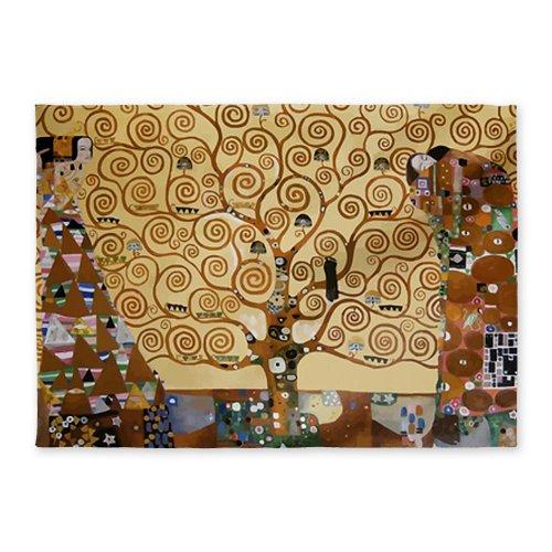 CafePress Gustav Klimt Tree Of Life 5'x7'Area Rug - Standard White