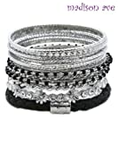 Madison Ave Fashion Rhodium Stackable Bangle