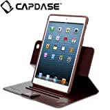 CAPDASE 日本正規品 iPad mini 専用 Protective Case Flip Jacket, Brown 縦置き/横置き 両対応 3段階スタンド機能つき ブックタイプ レザー調ケース 「フリップ・ジャケット」 ブラウン FCAPIPADM-1U08