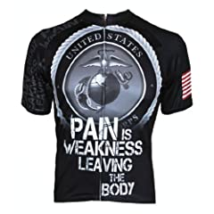 83 Sportswear Mens USMC Pain is Weakness Cycling Jersey by 83 Sportswear