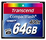Transcend 400X - 64 GB Compact Flash Memory Card TS64GCF400 (Blue)