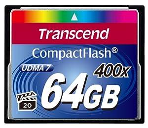 Transcend 400X - 64 GB Compact Flash Memory Card TS64GCF400 (Blue)