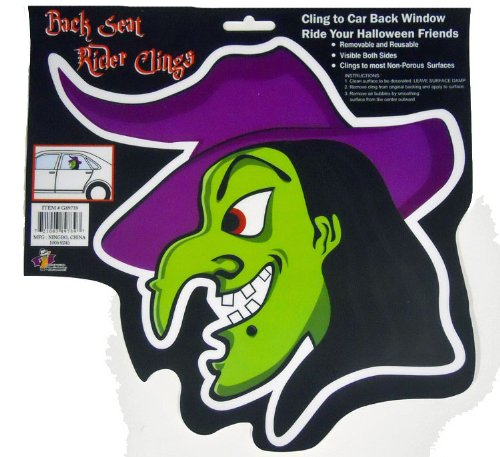 Back Seat Rider Window Clings - Halloween Witch