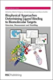 img - for Biophysical Approaches Determining Ligand Binding to Biomolecular Targets: Detection, Measurement and Modelling (RSC Biomolecular Sciences) book / textbook / text book