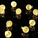 M&T TECH 20 LED Christmas Lights Solar Powered String Lights for Outdoor Garden Patio Party-Warm White