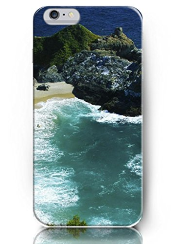 Ouo New Unique Vintage Hard Cover For 4.7 Inch Iphone 6 Case Mountains Beach And Sea