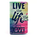Nokia Lumia 520 Case,Nancy's Shop [Stand Feature]premium Pu Leather Slim Wallet Flip Protective Skin Case with Magnetic Closure for Nokia Lumia 520 (Latest Styles) (Built-in Credit Card/id Card Slot) (Live the Life You Love Nancy's Shop Nokia Lumia 520 Case Cover)