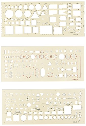 Koh-I-Noor- Set of 3 Electro Templates (Chart Stencil compare prices)