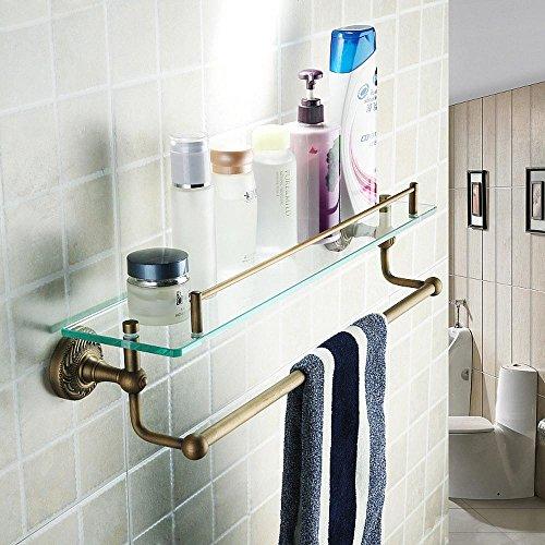 GS~LY Alluminio bronzo-come spazio con una barriera strato vetro asciugamano rack bagno accessori porta asciugamani