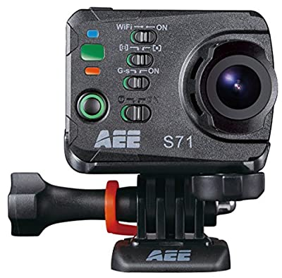 AEE Technology Action Cam S71 4K 1080P 16MP Slim Body Wi-Fi Waterproof Wireless Action Camera with 2.0-Inch LCD (Black) by AEE Technology Inc
